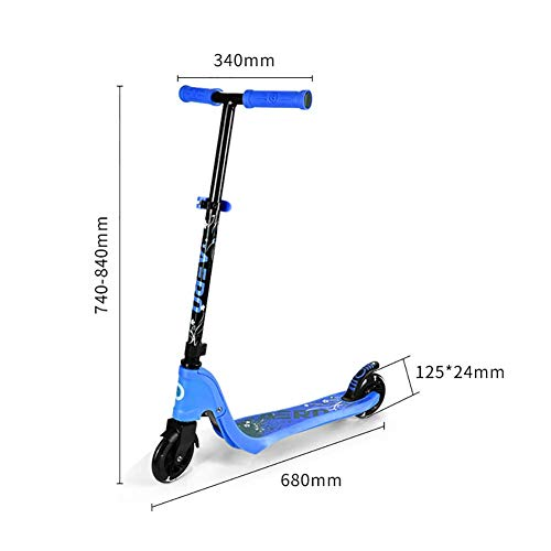 Sale!! PLLP Child Foldable Scooter-Scooter Kick Toddler Kick with Pu Lighted Wheel & Rear Brake, Adj...