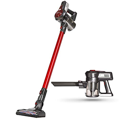 Dibea Cordless Vacuum Cleaner, 2 in 1 Upright Vacuum Cleaner for Carpet with Rechargeable...