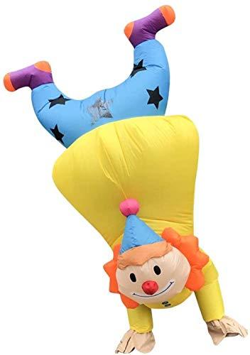 TBBE Ropa inflable de dibujos animados para hombres adultos y mujeres cosplay disfraz Halloween Navidad Masquerade Party-150-190cm_Amarillo