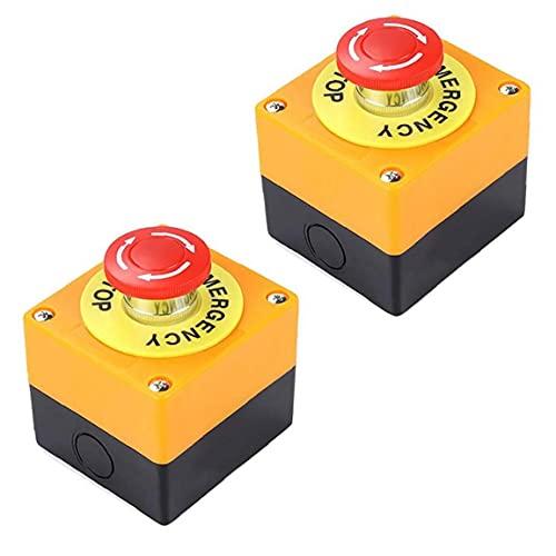 Botón de emergencia interruptor de parada de emergencia interruptor de emergencia pulsador botón pulsador de emergencia botón de parada de emergencia botón de parada de emergencia 22 mm muestra