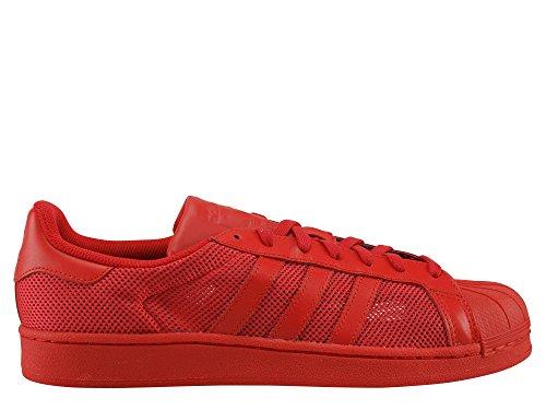 Adidas - Superstar - B42621 - Colore: Rosso - Taglia: 37.3