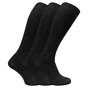 Sock Snob 3 Pares Hombre Finos 100% Algodón Verano Respirable Elegante Altos Largos Rodilla Medias Cómodo Suave Calcetines