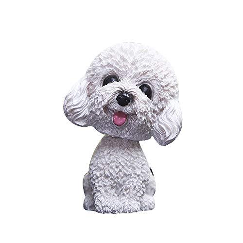 Chytaii - Figura decorativa para coche, diseño de perro con forma de perro que mueve la cabeza, agitar la cabeza, decoración interior para coche, juguete para niños