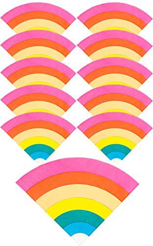 Talking Tables Napkin-RAIN Regenbogenförmige Serviette mit Folie (16Pk), Paper