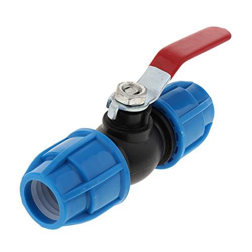 F Fityle Válvula de Bola 3/4 Plástico Grifo Llave Agua para Jardín Acuario Caudal Conector Tubo de Riego - Núcleo de Acero de 25 mm