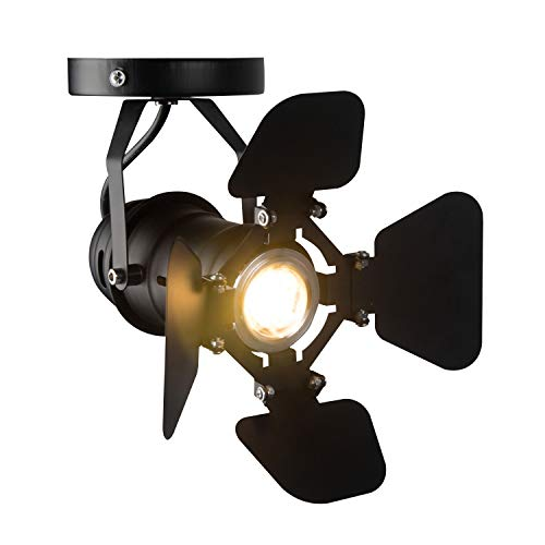 Hobaca® GU10 L19 * W17cm Mini Loft LED-Strahler Deckenleuchten Industrielle Schienenleuchte Anbau-Retro-Lampen Downlight für kleine Vitrine Coffee Bar
