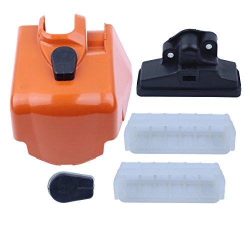 Haishine Filtro y Cubierta de Aire Juego de perillas de Bloqueo por torsión para Stihl MS210 MS230 MS250 023 025 MS 210 230 250 Repuestos de Motosierra