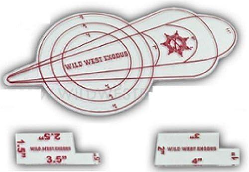 calidad fantástica Template Set  Wild Wild Wild West Exodus by Outlaw Miniatures  minorista de fitness