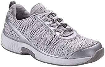 Orthofeet Proven Plantar Fasciitis, Foot and Heel Pain Relief. Extended Widths. Orthopedic Walking Shoes Diabetic Bunions Women's Sneakers, Sandy Silver