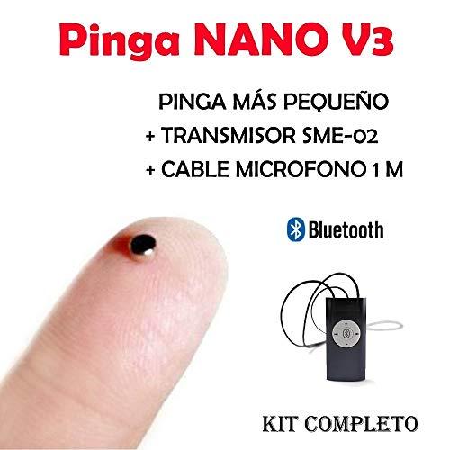 Auricular Nano V3 Bluetooth KIT COMPLETO … (Negro)
