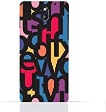 HTC Desire 610 TPU Silicone Case With Abstract Font Seamless Pattern