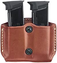 Gould & Goodrich 851-3 Gold Line Double Mag Case With Belt Loops (Chestnut Brown) Fits BERETTA 84, 9mm, .40 (all); COLT 9mm, .40, 10mm, .45 (all); H&K P2000, P2000SK, P30; KIMBER all except Polymer; SIG 9mm, .357, .40, .45 (all), 250 COMPACT 9MM, 40, .357; RUGER 9 mm, .40, .45 (all); SW M&P COMPACT 9MM, .357, .40, SW M&P 9MM, .40, .357, all except Sigma; SPRINGFIELD XD 3, XD 4, XD Tactical; TAURUS 24/7; WILSON SENTINEL ULTRA COMPACT, CQB COMPACT, STEALTH, TACTICAL, CQB, PROTECTOR, TACTICAL, ELITE.