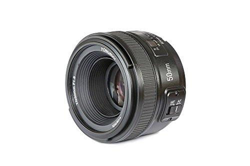 Yongnuo YN50MM - Objetivo para cámaras Nikon DSLR (f/1.8, 58 mm, AF/MF), Negro