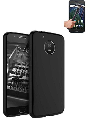 Todobarato24h Funda TPU Lisa Motorola Moto G5 Plus 5.5 Pulgadas Negra +...