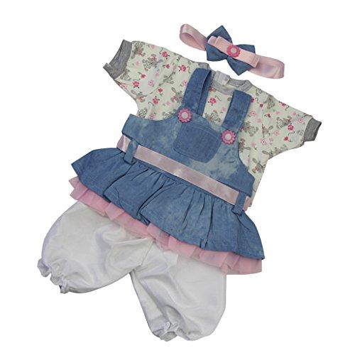 CUTICATE Lovely Strampler Haarband Anzug Für 22 '' 23 '' Reborn Baby Boy Puppenkleider - # 3