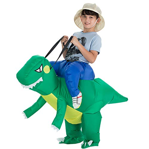 TOLOCO Inflatable Dinosaur T-REX Costume | Inflatable Costumes for Kids| Halloween Costume | Blow Up Costume (Child Dinosaur)