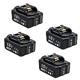 Makita BL1855 - Batería de repuesto para Makita (18 V, 5,5 Ah, 18 V, 5500 mAh, iones de litio, compatible con BL1860B, BL1850, BL1840, BL1830, BL1820B, BL1815)