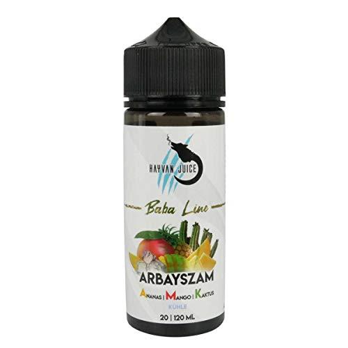 Hayvan Juice Aromakonzentrat Baba Line - Arbayszam A.M.K., Shake-and-Vape zum Mischen mit Basisliquid für e-Liquid, 0.0 mg Nikotin, 20 ml