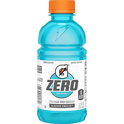 Gatorade Zero Sugar Thirst Quencher, Glacier Freeze, 12 Ounce, 24 Count