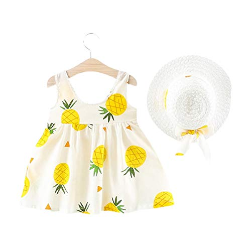Baby Meisjes Jurk Zomer Katoen Mode Strand Jurk Print Mouwloos Tuniek Swing Sundress