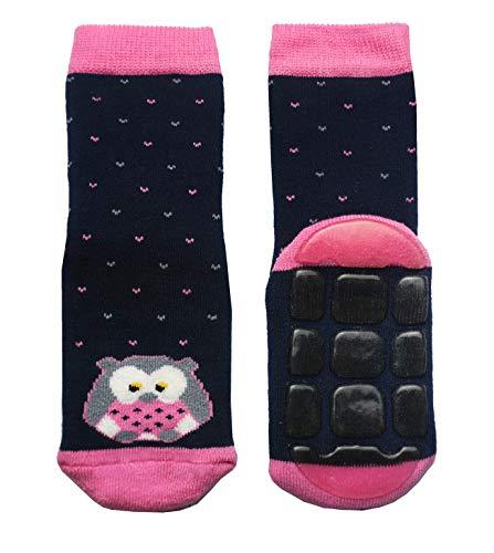Weri Spezials Kinder Voll-ABS Eule Socke in Marine Gr.23-26 (3-4 Jahre)