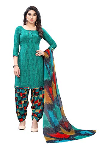 Yashika Women's Salwar Suit Unstiched Printed french Crep Dress material. (DRESS MATERIAL 440_Free Size)