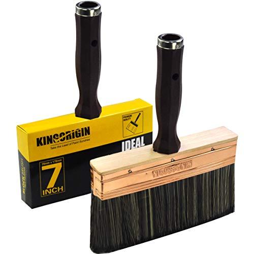 7 Inch Decking and Stain Brush,Block Brush, Paint Brush Heavy Duty Professional Stain Brush, Paint Brush,Paint Brushes, Double Thick 1.2 inch,Fence Brush,Paint Brush for Walls,Painters Paint Brush