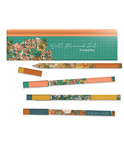 Well Planned Gal Floral Ballpoint Pens, Eco-Friendly, 4 Pack