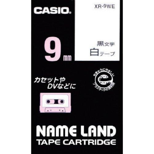 ネームランド スタンダードテープ 白 XR-9WE [黒文字 9mm×8m]