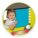 Smoby - Maison Pretty + Cuisine d Eté - Cabane de Jardin Enfant - 2 Fenêtres avec Persiennes + 17 Accessoires - 810711