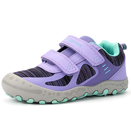 Mishansha Zapatos de Running Niñas Zapatillas Deportivas Transpirable Antideslizante Zapatos de Senderismo Ligeras Calzado Trekking, Morado, 38 EU