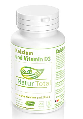 Kalzium mit Vitamin D3 Tabletten - 180 Tabletten -Hochdosiert - Calcium plus Vitamin D Versorgung...