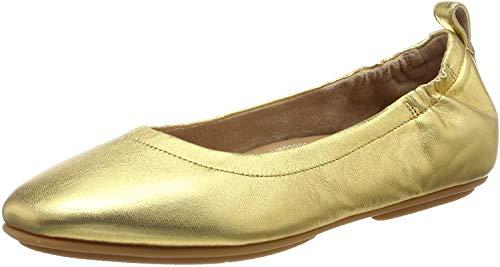 FitFlop Allegro, Bailarinas con Punta Cerrada para Mujer, Dorado (Artisan Gold 667), 39 EU
