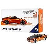 Hot Wheels iD FXB49 - Die-Cast Fahrzeug 1:64 BMW i8 Roadster mit NFC-Chip zum Scannen in der Hot Wheels iD App, Auto Spielzeug ab 8 Jahren -
