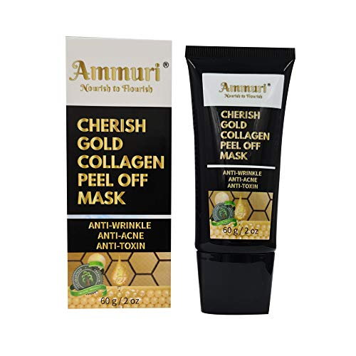 AMMURI CHERISH 24K GOLD COLLAGEN PEEL OFF MASK ANTI-WRINKLE, ANTI-ACNE & ANTI-TOXIN Targets: Blackheads, Acne Scars, Wrinkles & Enlarged Pores