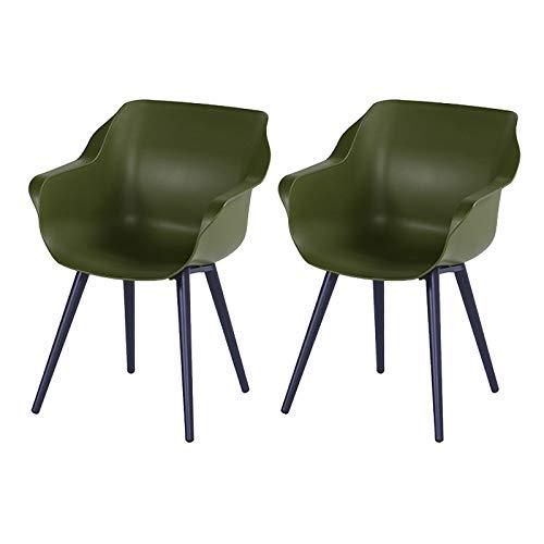 Hartman Sophie Studio Armchair Silla, Resina, Verde Musgo