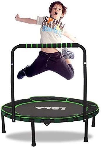 Trampoline for Kids 36 Foldable Kids Trampoline with Adjustable Handrail Safty Padded Cover product image