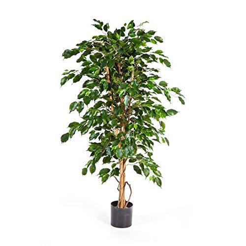 artplants.de Künstlicher Ficus Benjamini Thiago, mit 495 Blättern, 120cm - Kunstficus - Deko Baum - Künstliche Zimmerpflanze