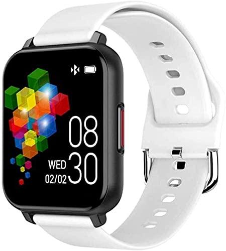 XYJ Smart Watch 1 54 Pulgadas Color Pantalla táctil IP67 Vida Impermeable Deportes Fitness Tracker (Color : White)