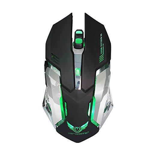 Black Shentesel Ergonomic Optical Gaming Mouse 2.4GHz Wireless 1600DPI Computer PC Laptop