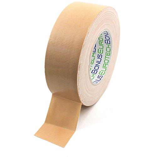BONUS Eurotech 1BC12.45.0050/050A# Premium Duct Tape, Klebstoff auf Naturkautschuk Basis, mit PE laminiertes Gewebe, Länge 50 m x Breite 50 mm x Dicke 0,25 mm, Creme