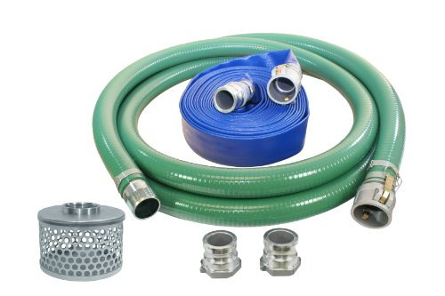 Abbott Rubber - 1240-KIT-3000-1145-QC PVC Suction and Discharge Hose Pump Kit, Green/Blue, 3