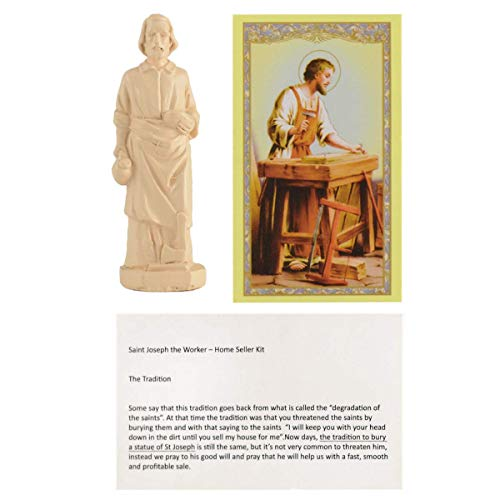 PILOTDIARY Saint Joseph Statue House Seller Home Selling Kit with Instructions and Prayer Card Best Religious Gifts