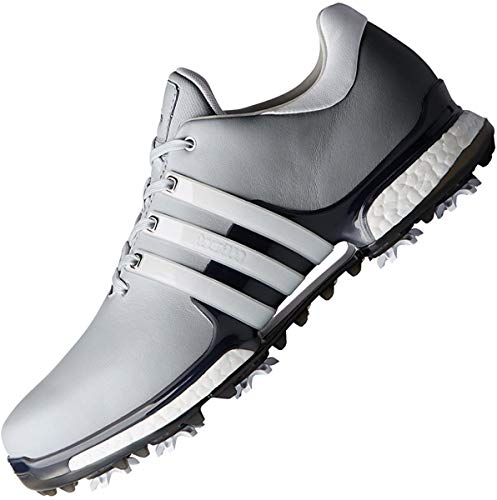 adidas Men's Tour 360 Boost 2.0 Golf Shoes, Silver (Silver/White F33793), 7.5 UK