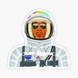 Man on The Moon Sticker - Sticker Graphic - Auto, Wall, Laptop, Cell, Truck Sticker for Windows, Cars, Trucks