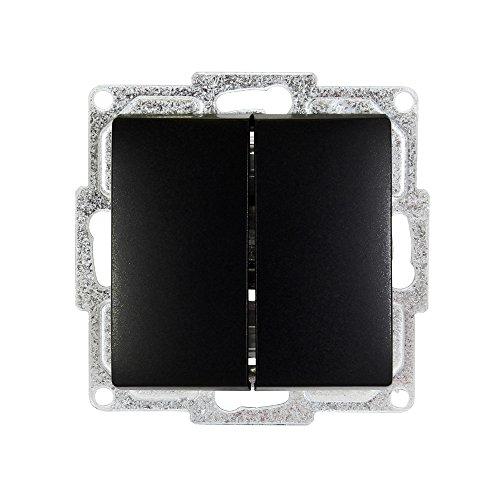 Schalterprogramm Gunsan Visage schwarz (2-fach Schalter Unterputz)