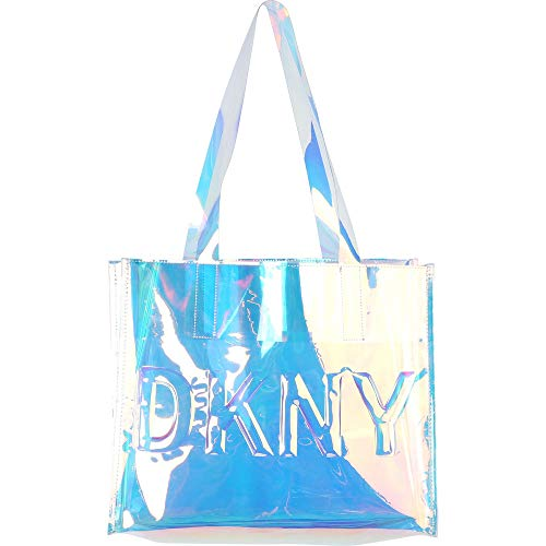 DKNY Mädchen Handtasche Transparenter Shopper mit eingeprägtem Logo D30487