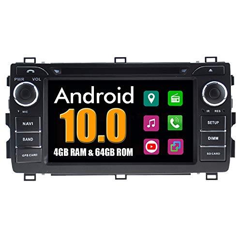 RoverOne Android System Autoradio für Toyota Auris 2013 2014 2015 mit Multimedia DVD Stereo GPS Navigationsradio Bluetooth USB Mirror Link