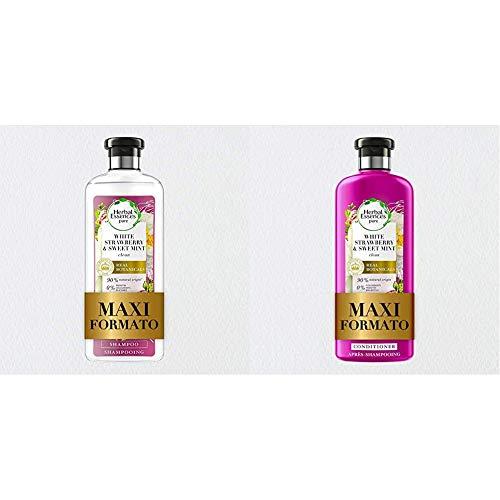 Herbal Essences Shampoo Fragola Bianca e Menta Dolce, Purifica Delicatamente + Balsamo, Fragola Bianca e Menta Dolce, Idrata Delicatamente