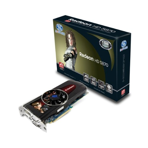 Sapphire ATI Radeon HD 5870 Grafikkarte (PCI-e, 1GB GDDR5 Speicher, HDMI, 2X DVI, DP, 1 GPU)